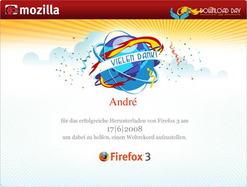Download Day 2008 Zertifikat