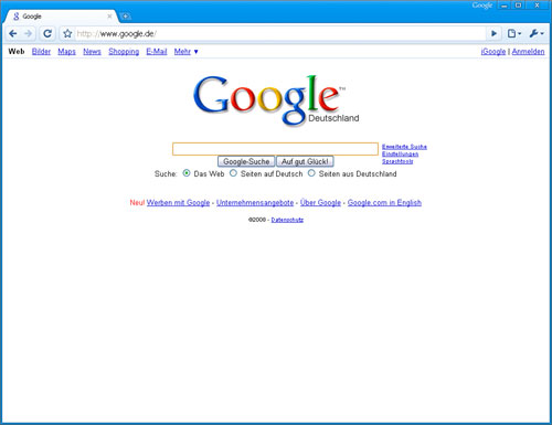 Google Chrome 1 UI