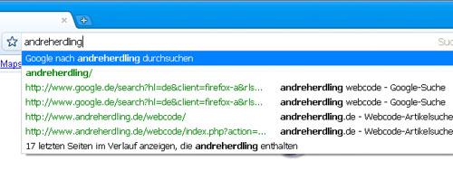 Google Chrome 1: Ein Eingabefeld für Alles
