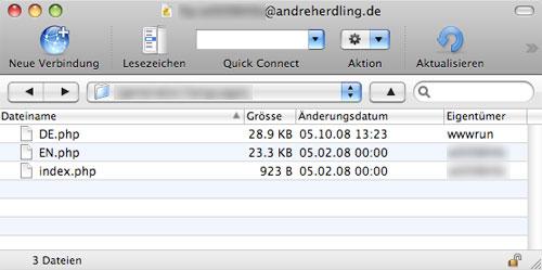 FTP Dateiberechtigungen