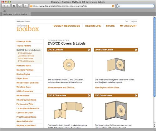 CD-Cover Vorlagen bei designerstoolbox.com
