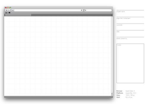 Ansicht Webdesign Sketchbook