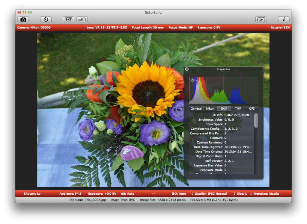 Screenshot Sofortbild für Mac OS