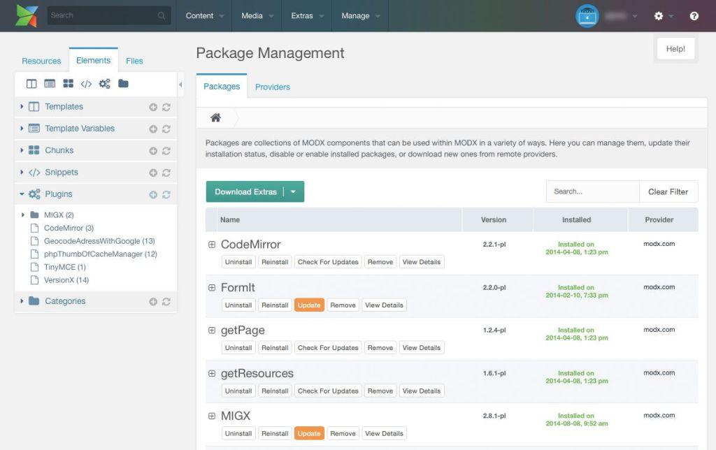 Über das Package Management können können komfortable Funktionserweiterungen installiert werden