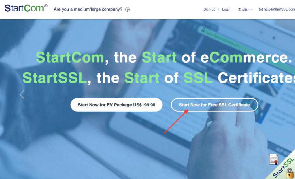 Bei StartCom (StartSSL) bekommt man ein kostenloses Klasse-1-Zertifikat (Screenshot: StartCom Website)
