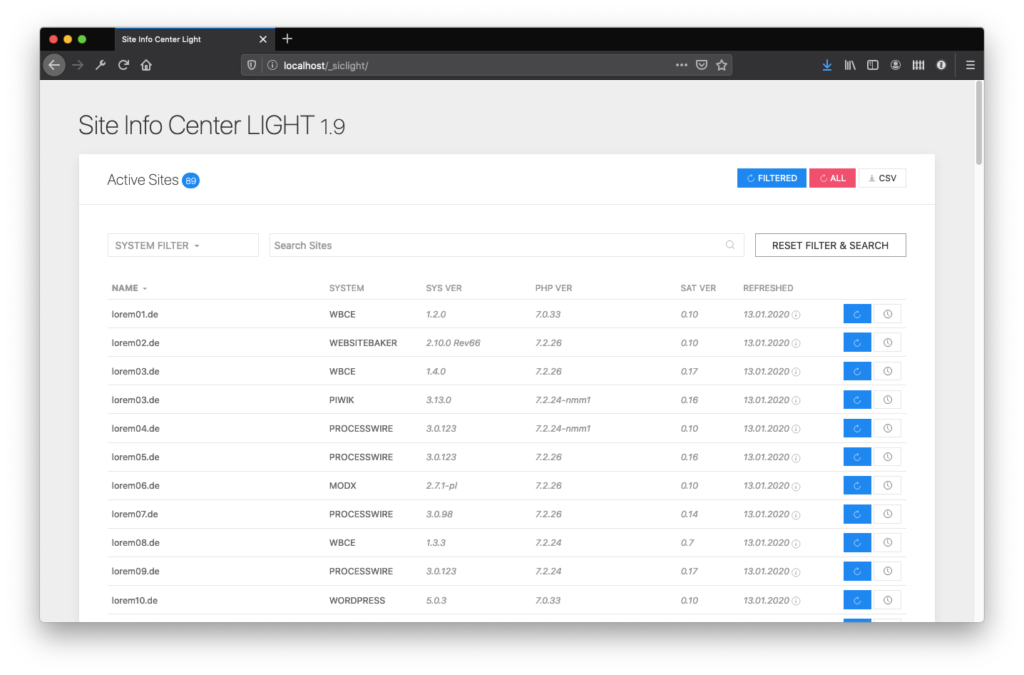 Site Info Center Light